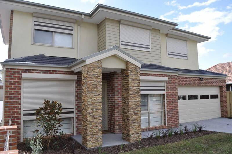 Window Roller Shutters WIth Stripes Adelaide