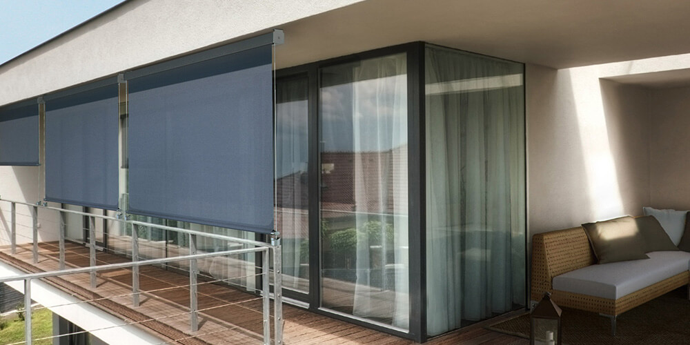 Wire Glide Outdoor Blinds